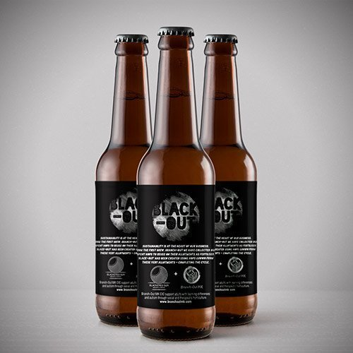 black out collaboration beer with branch out mk