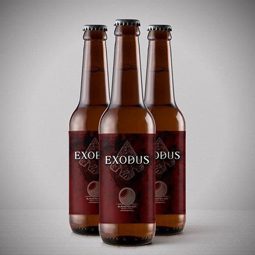 image of three bottles of exodus dipa beer from blackened sun in milton keynes