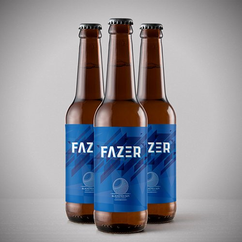 image of 3 bottles of fazer quad beer from blackened sun brewing company